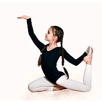 Белые лосины для танцев и гимнастики x\б
