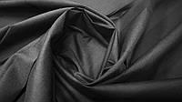 Ткань батист (подкладка) чёрный однотонный