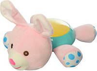 Детский ночник-игрушка с проектором Зайчик Limo Toy, розовый
