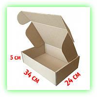 Картонная коробка 340х240х50 самосборная упаковка подарочная (20шт. в уп.) Новая почта