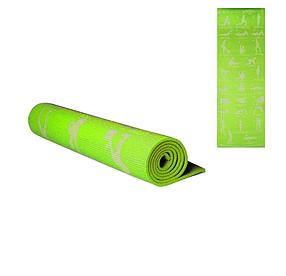 Килимок для йоги. Йогамат (Зелений) MS 1845-1