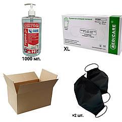 Clean box (Clean Stream 1000 мл, латексные перчатки размера XL, 2 хлопковые маски) Экономия 20%