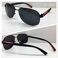 Очки солнцезащитные поляризованные черные (SKU555)