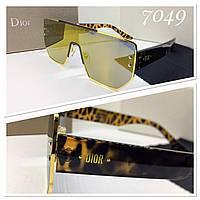 Очки-маска солнцезащитные линзы зеркальные Di*r (SKU555)