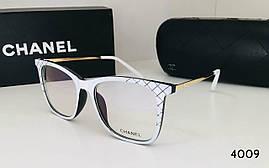 Красивая женская оправа Chanel белая под вставку линз с дужками метал (3379) (SKU555)