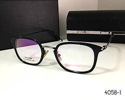 Стильная оправа для очков, черная (9192) (SKU555)