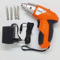 Электрическая отвертка-шуруповерт TUOYE с битами и адаптером