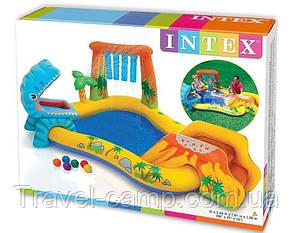"""Надувний ігровий центр з гіркою Intex 57444 """"Динозаври"""", фото 2"""