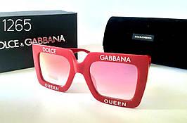 Квадратные солнцезащитные  очки  красные (DG4238) (SKU555)