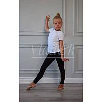 Черные лосины для танцев и гимнастики х/б