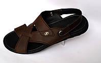 Обувь больших размеров мужская сандалии босоножки кожаные коричневые Rosso Avangard Sandals Bertal Brown Crazy