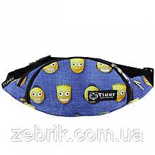 Бананка, сумка на пояс, сумка через плечо TIGER СИМПСОНЫ