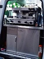 Тумба в мобильную кофейню