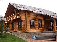 Строительство дома из бревна оцилиндрованного механическим способом