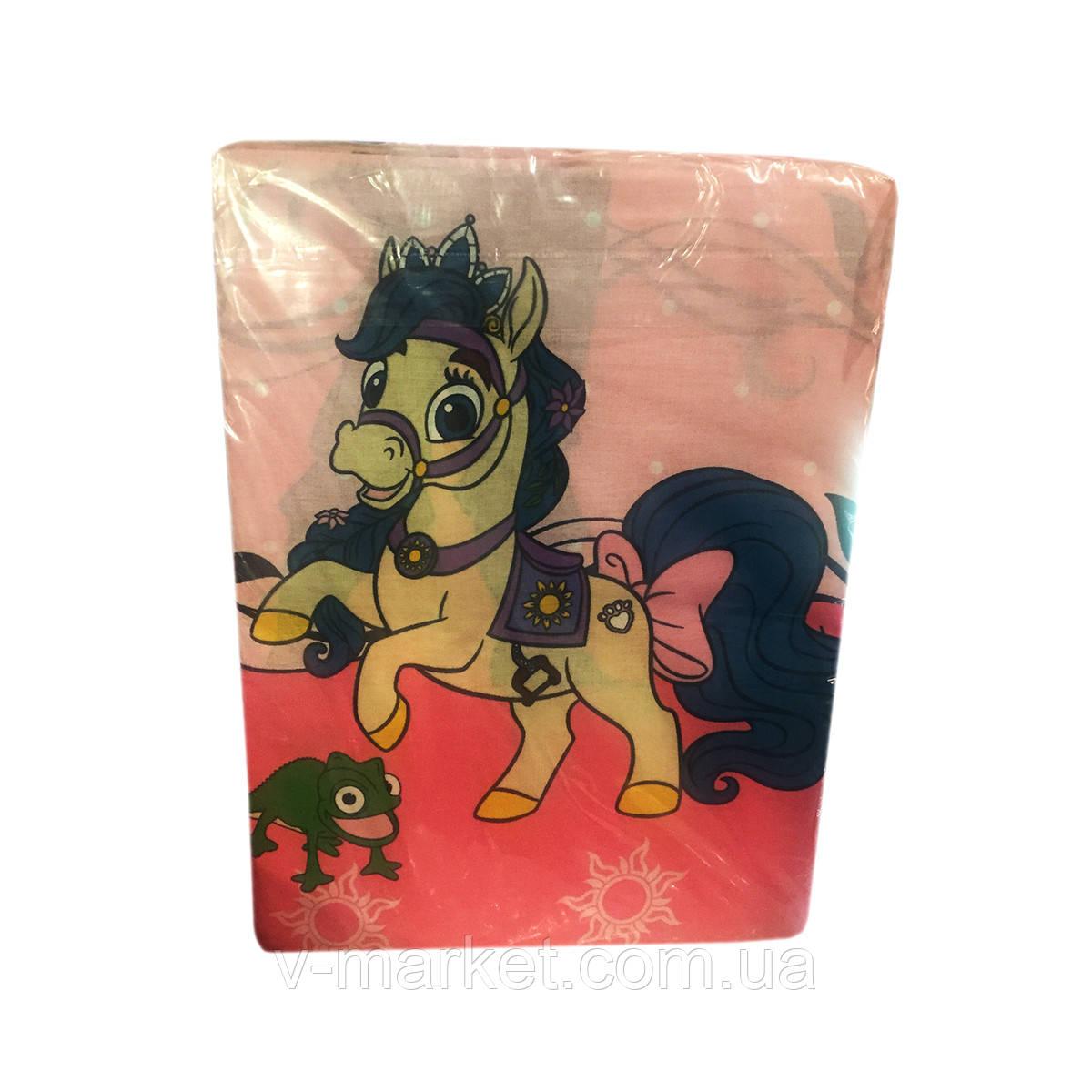 """""""Пони"""" полуторное постельное белье с детским рисунком, Тирасполь, Tirotex, 100% хлопок"""