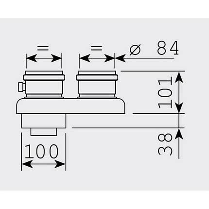 Адаптер Sime для конденсационного котла 60/100 - 80/80, фото 2