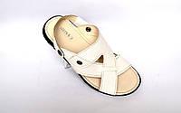 Белые сандалии босоножки кожаные мужская обувь больших размеров Rosso Avangard Sandals Bertal White Flotar BS