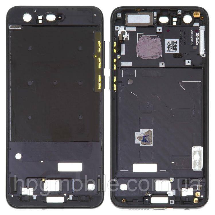 Рамка крепления дисплея для Huawei Honor 9, Huawei Honor 9 Premium, черная