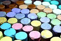 """Мелки цветные """"ЛК"""" (12 цветов/ 12шт) круглые, в пластиковом ведре"""