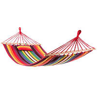 Мексиканский гамак с перекладиной,чехло и подушкой 200х100 см до 180 кг Разноцветный