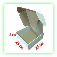 Самосборная коробка картонная 250х250х85 Белая, упаковка подарочная (20шт. в уп.)