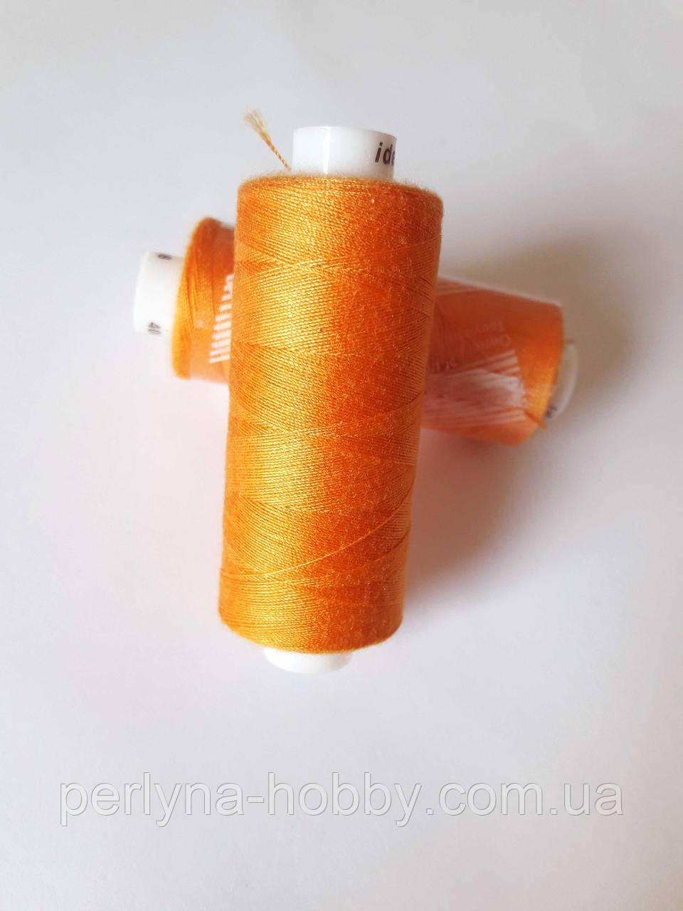 Нитка  для шиття, 400 ярдів (360 м)  поліестер 100%. Оранжева  № 138