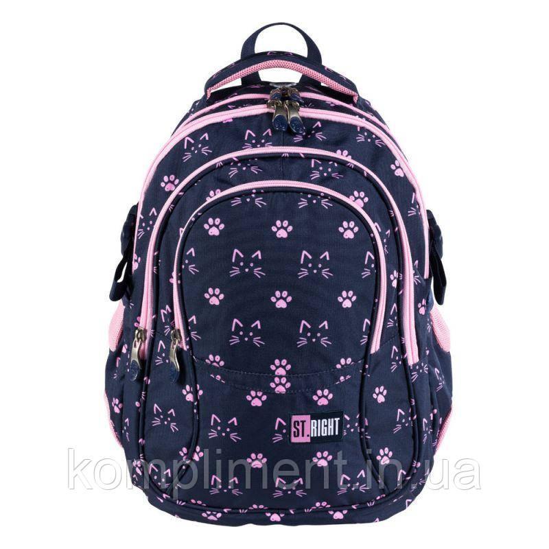 Підлітковий Рюкзак шкільний для дівчинки 4-х камерний BP01 KOCIE ŁAPKI