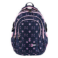 Підлітковий Рюкзак шкільний для дівчинки 4-х камерний BP01 KOCIE ŁAPKI, фото 1