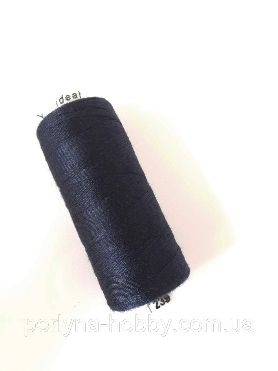 Нитка  для шиття, 400 ярдів (360 м)  поліестер 100%. синій темний