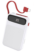 Power Bank Hoco J40 Powerful Cable for Lightning 10000 mAh White