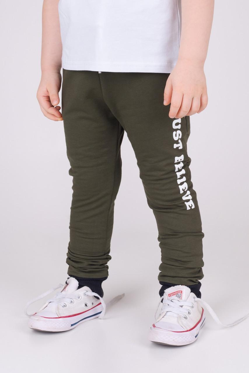 Спортивные штаны для мальчика Хаки р. 86 (51 см)