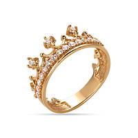 Женское кольцо КВ1208и, Красное золото, Размер 15.5