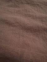 """Льняная плотная костюмная ткань с """"эффектом помятости"""" """"Тауп"""", фото 1"""