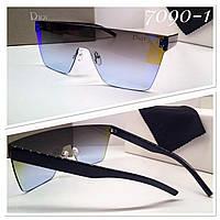 Женские солнцезащитные очки маска серо-синие градиент (SKU555-1)