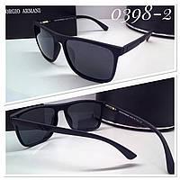 Мужские очки в матовой оправе ARMANI черные (SKU555-1)