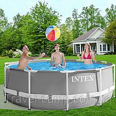 Каркасний басейн Intex 26718 Prism Frame Pool (366*122 см) з фільтром-насосом ,сходи 3 шару, фото 2