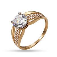 Женское кольцо КВ1260и, Красное золото, Размер 18