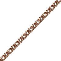 Мужская цепочка ЦП026, Красное золото, Размер 50