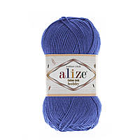 Летняя пряжа ( 55%- хлопок, 45%- акрил; 50г/ 165м) Alize Cotton Gold Hobby 141(василек)
