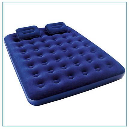 Матрас надувной Bestway 67374 (203x152x22см) + 2 подушками и  насосом, фото 2