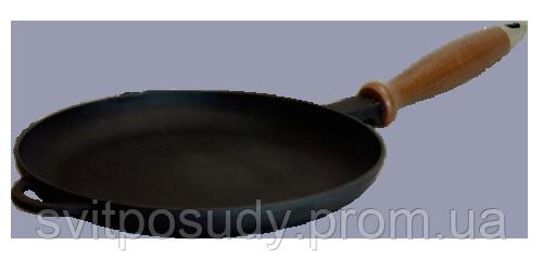Сковорода для блинов с деревянной ручкой 240*25 мм