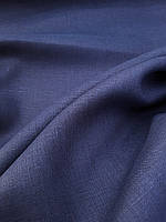 Льняная костюмная ткань синего цвета, фото 1
