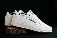 Мужские кроссовки белые Reebok Classic Workout Plus - последний размер 29 см!