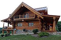 Строительство дома из бревна рубленного ручным способом (дикий тес), фото 1