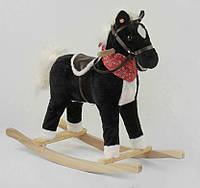 Детская игрушечная качалка Лошадка 65273 (2 цвета) звуковые эффекты, двигает хвостом