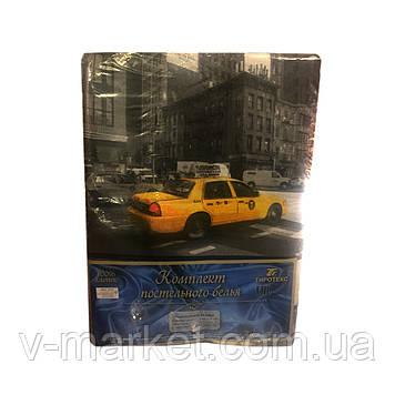 """""""Город и машина"""" полуторное постельное белье с детским рисунком, Тирасполь, Tirotex, 100% хлопок"""