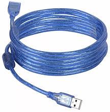 Кабель подовжувач USB A - USB F 5 метрів Blue (3795)