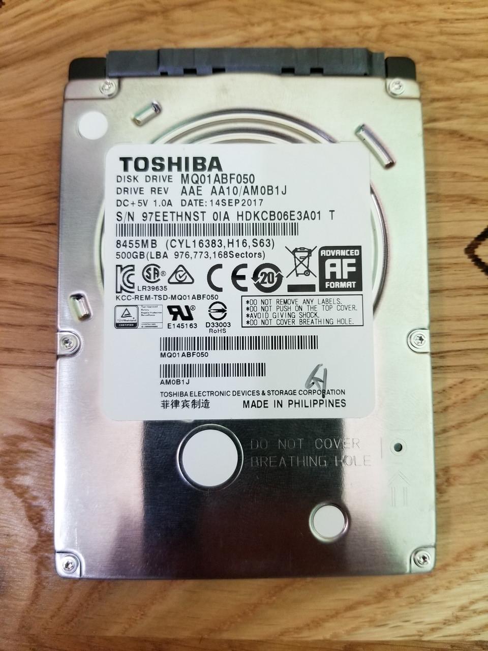 "Жесткий диск для ноутбука Toshiba 500GB 5400rpm 8MB MQ01ABF050 2.5"" SATAIII"