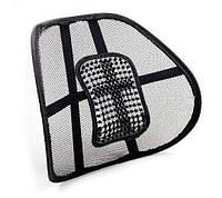 Ортопедическая спинка-подушка на кресло и авто сиденье c массажем (2268)