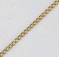 Мужская цепочка ЦП097 Панцирная2,3, Красное золото, Размер 40